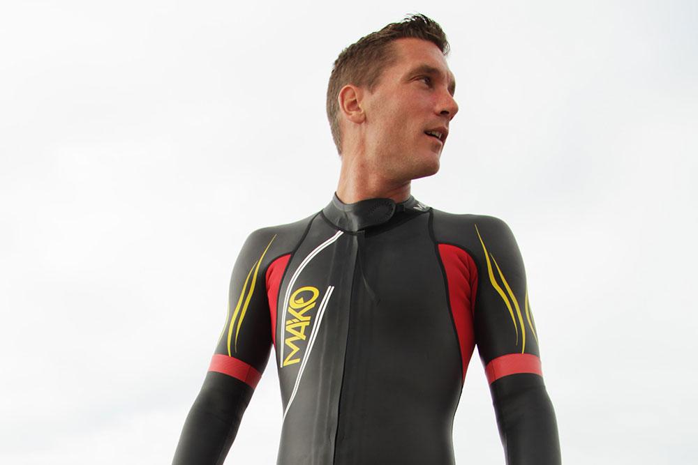 traje de neopreno (wetsuit) para triatlón traje mako rojo